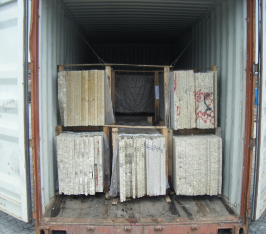 granite slabs load in container
